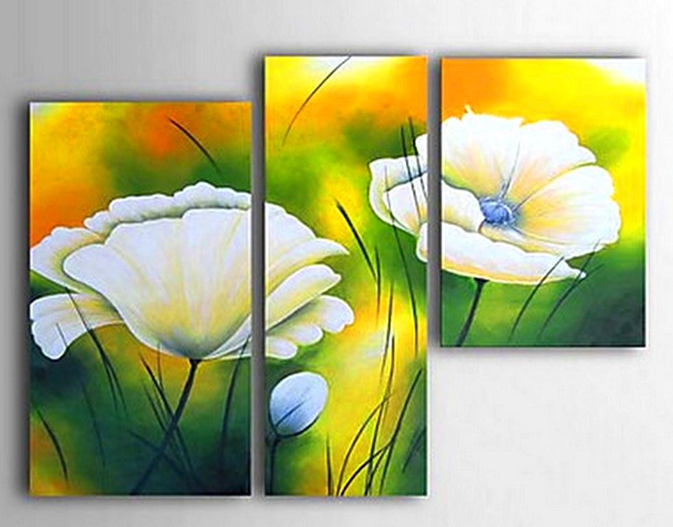 Cuadros modernos pinturas y dibujos flores modernas al leo - Cuadros flores modernas ...