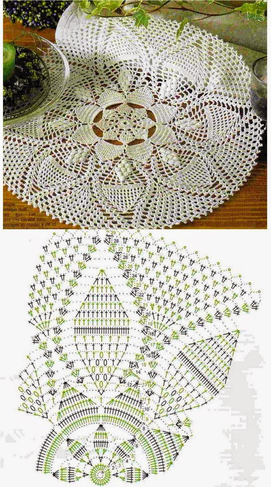 Kira crochet listopada 2014 for Tapetes de crochet