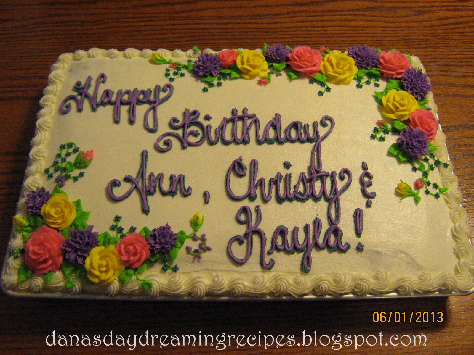 Danas Daydreaming Recipes Happy Birthday Cake
