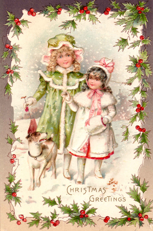 Винтажные открытки рождественские 50