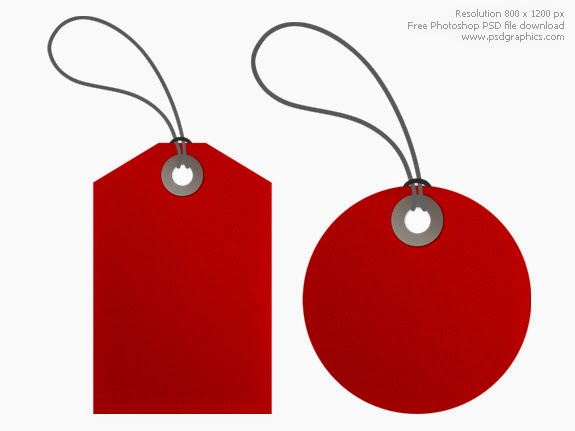 Red Tags PSD