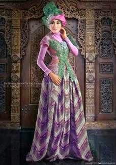 Desain baju muslim kebaya untuk remaja modis terbaru