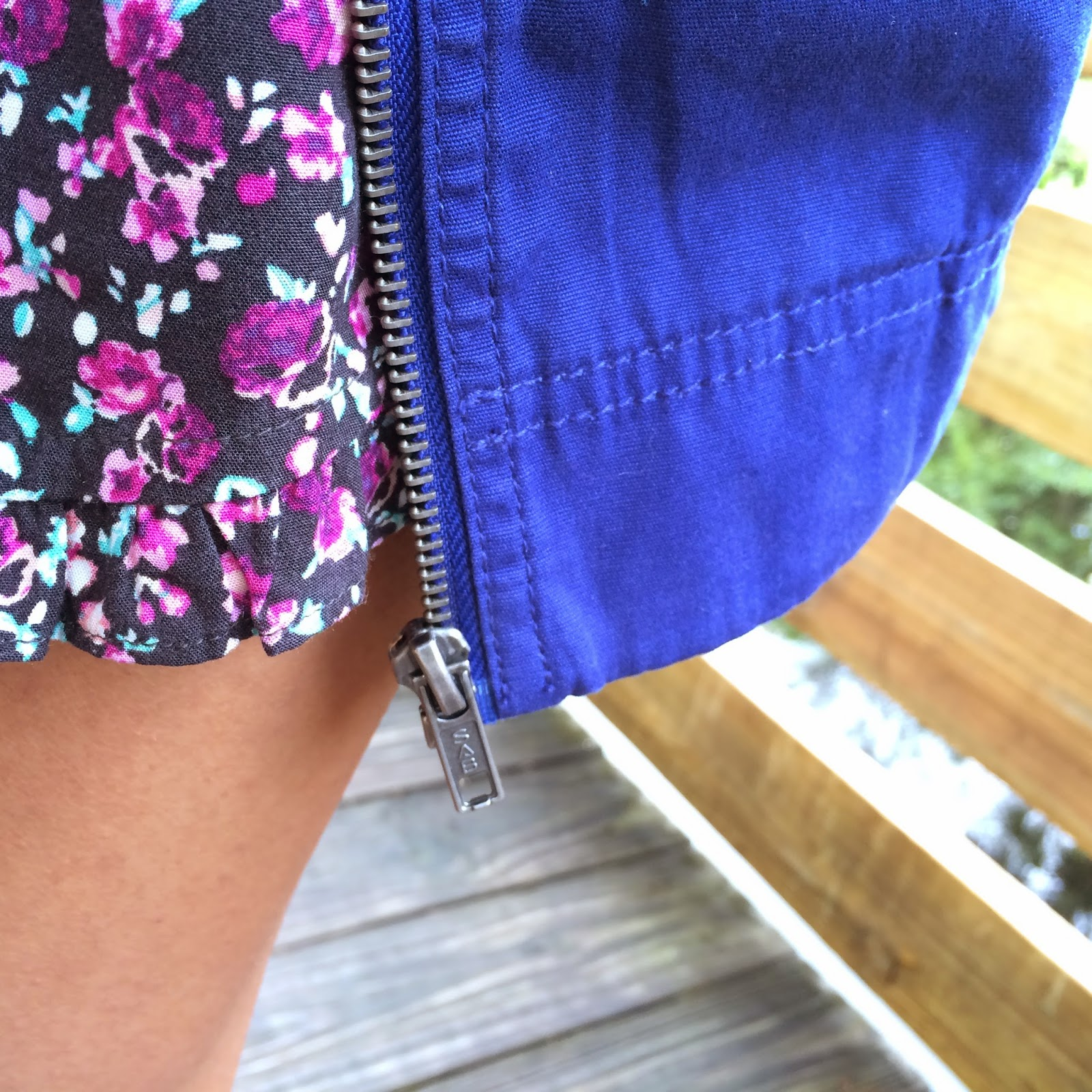 floral ruffle shorts, american eagle
