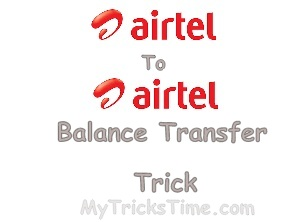 transfer balance from Airtel to Airtel