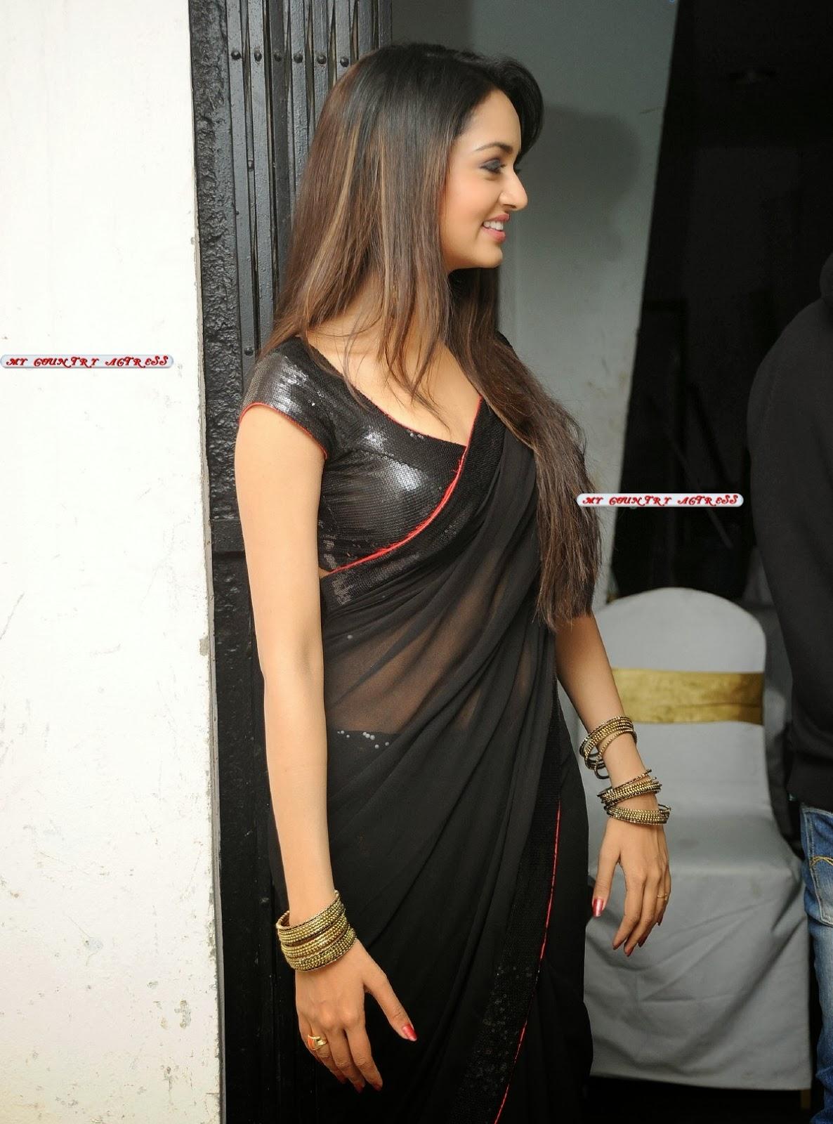 my country actress shanvi srivastava hot in black saree