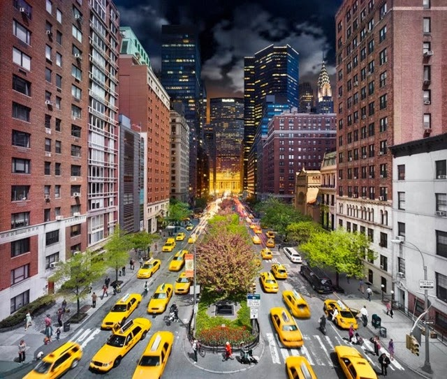 Day and Night in New York City Captured in Single Images photography by Stephen Wilkes