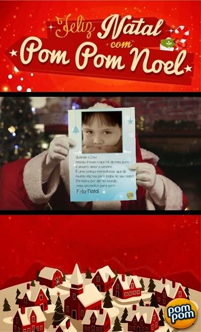 Natal, Cartões, Pom Pom, Hypermarcas, Vídeos, Papai Noel, Davi, Cecília, Aplicativos,