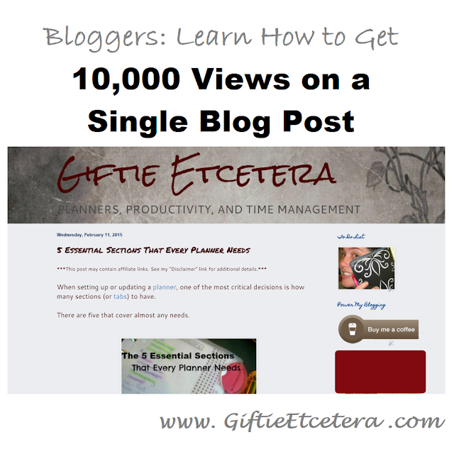 blog, Giftie, Etcetera, blog views