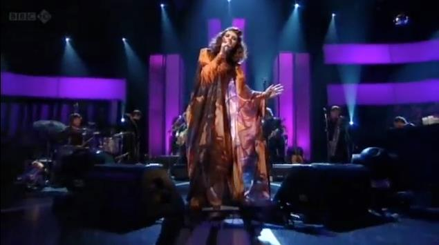 dress i made for Ren Harvieu for her jools holland performance on bbc2