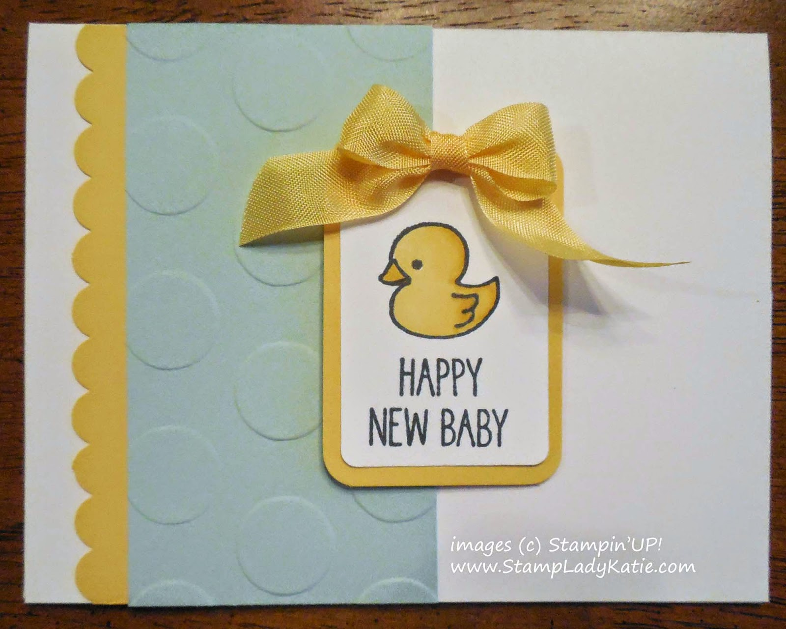 Baby Card made with Stampin'UP!'s One Tag Fits All Stamp Set