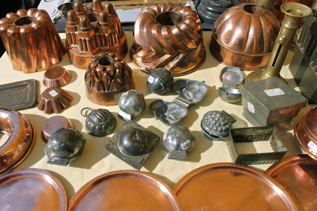 Copper moulds for jellies, aluminium fruit shaped moulds for ice cream and chocolates