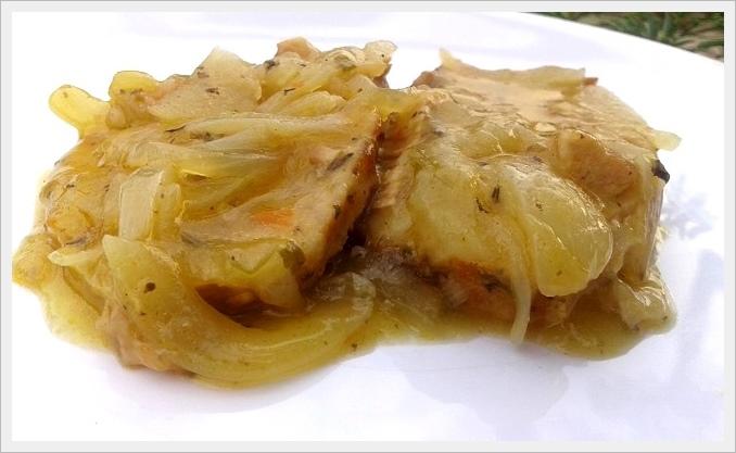 Schab w sosie cebulowym - test bulionetki Knorr