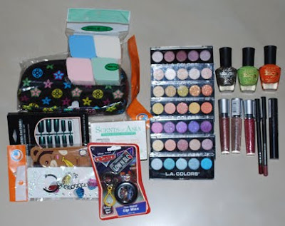 a lot of makeup and cosmetics