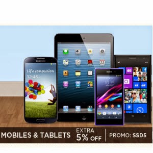 Mobiles & Tablets extra 5% off on Rs. 5000 || With Recommendations || Snapdeal