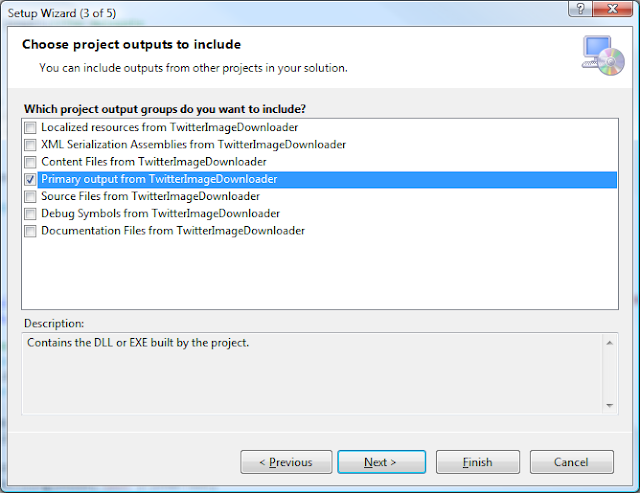 Visual Studio Setup Wizard - Step 3