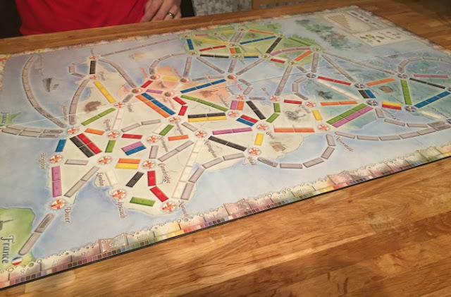 Ticket to Ride UK board