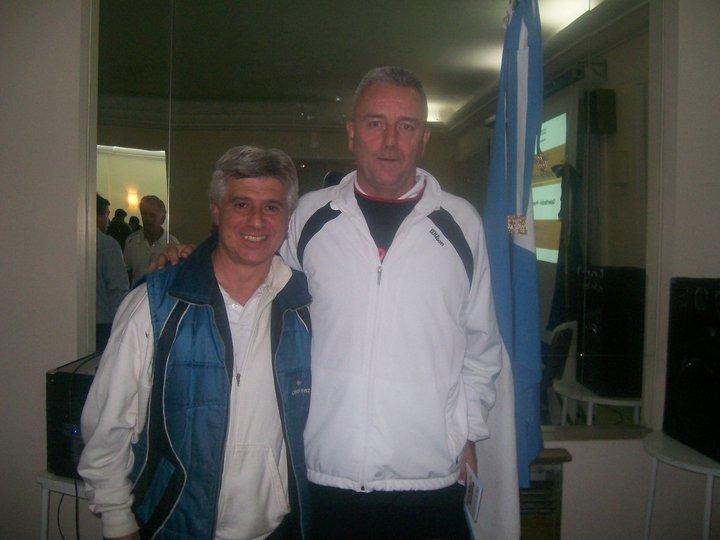 Con Dave Miley (Director Capacitacion ITF)