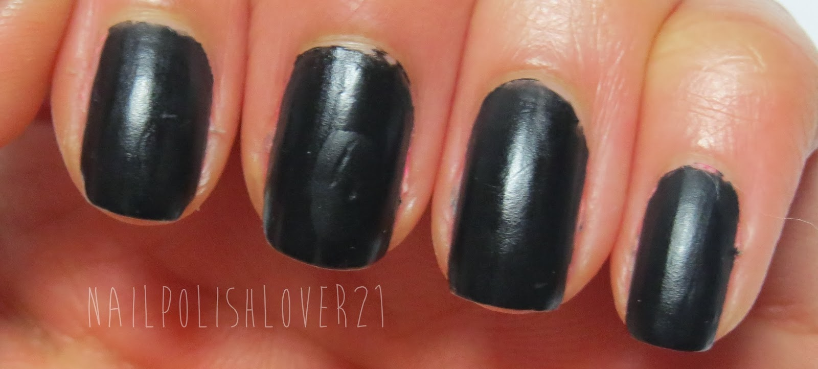 Nail Polish Reviews + Swatches!: NEW Barry M Matte Black Swatch & Review