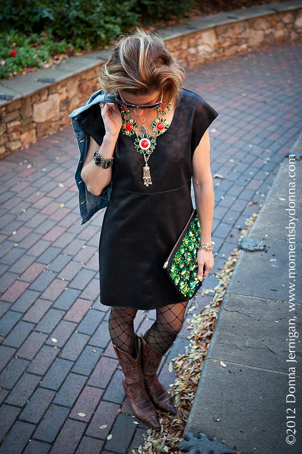 C&C California Dress, ASOS Clutch, Charles Emerson Designs Necklace, Blinde Sunglasses, Charlie 1 Horse Boots, the Queen City Style, KK Bloom Necklace, Melinda Maria Cocktail Ring, Tiffany Ring, Diamonds Direct Rings, Stella & Dot Renegade Clusters Necklace, Vintage Jewelry, Jewelmint Earrings
