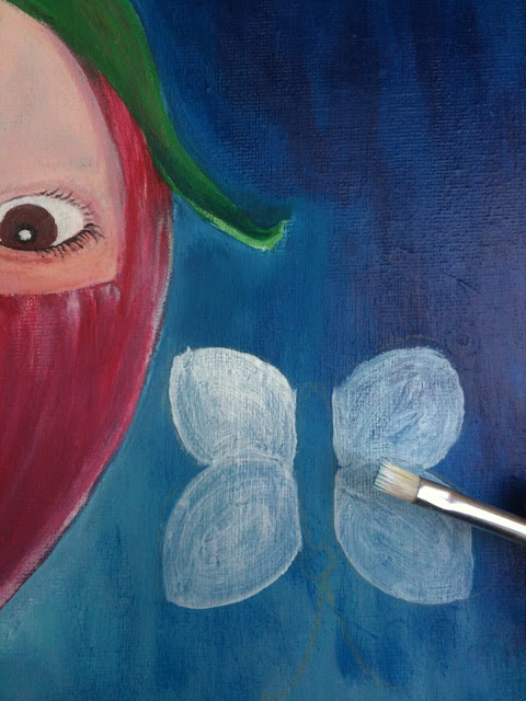 A painting in progress