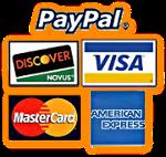Paypal, Visa, Mastercard, Discover
