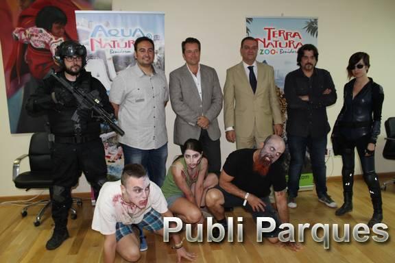 Presentación temática zombie de Terra Natura Benidorm