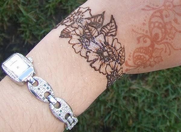 Mehndi Bracelet Easy : Mehndi bracelet designs