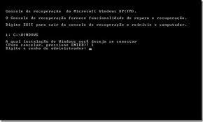 Resolvendo problemas de inicialização do Windows XP - Console de recuperação