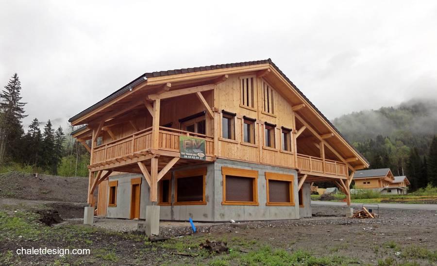 Arquitectura de casas la casa chal cuestion de dise o y - Casas de cemento y madera ...