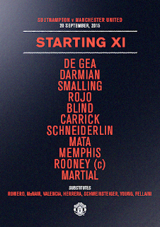 Susunan Pemain Southampton vs Manchester United: Rooney Starter