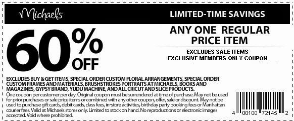 Michaels craft store 50 off printable coupon
