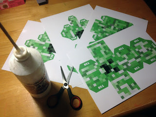Minecraft creeper printable papercraft templates