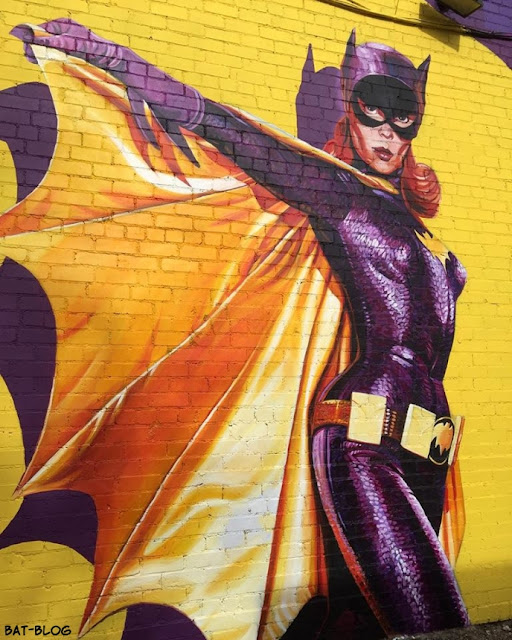 Bat blog batman toys and collectibles new batgirl for Dallas mural artists