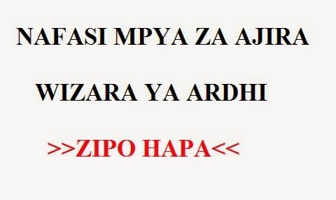 Ajira+Utumishi+2012 NAFASI MPYA ZA AJIRA WIZARA YA ARDHI: MWISHO WA ...
