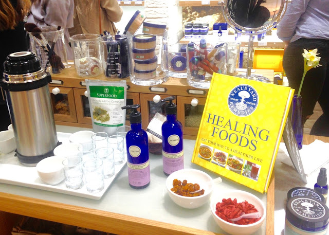 neals yard remedies blogger event organic skincare healing superfoods