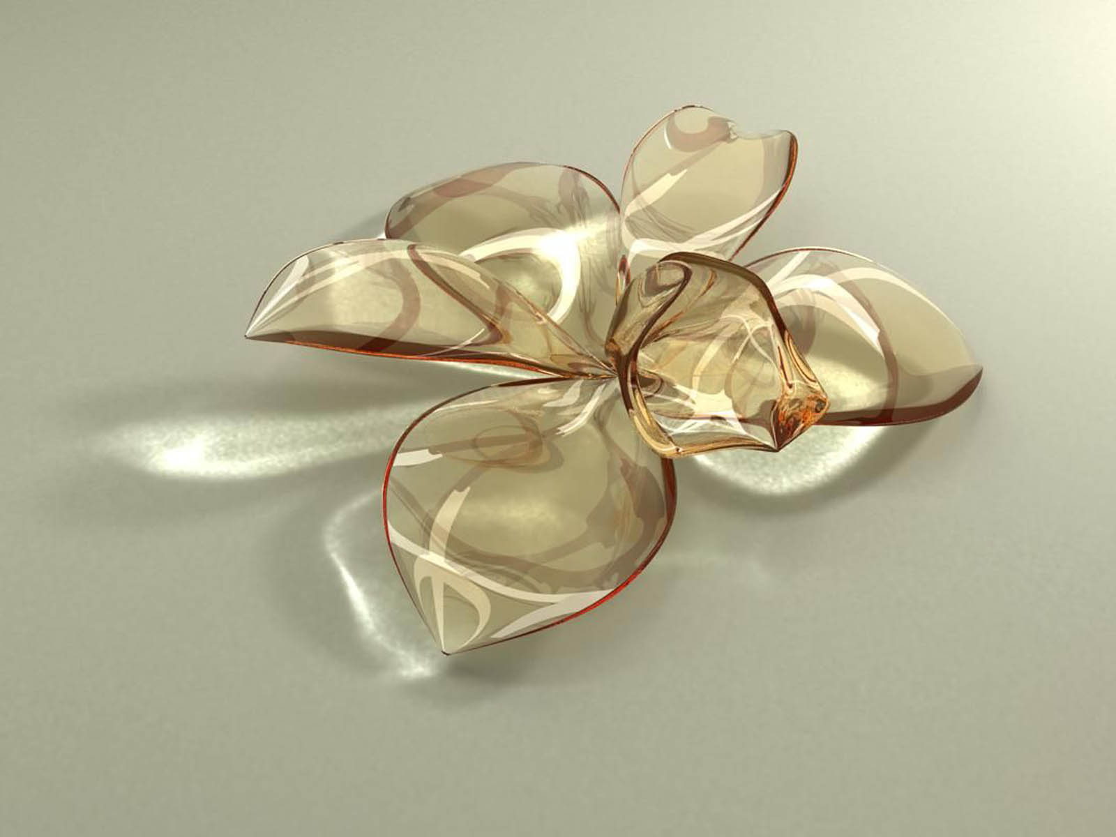 Wallpapers Glass Flowers