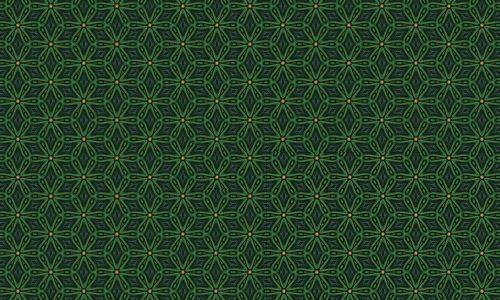 Flower green pattern