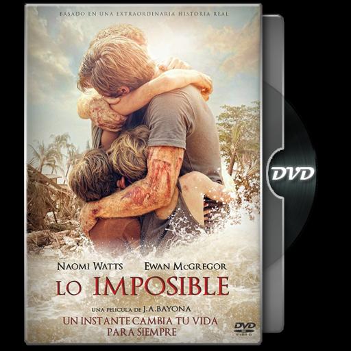 Lo imposible dvd portada