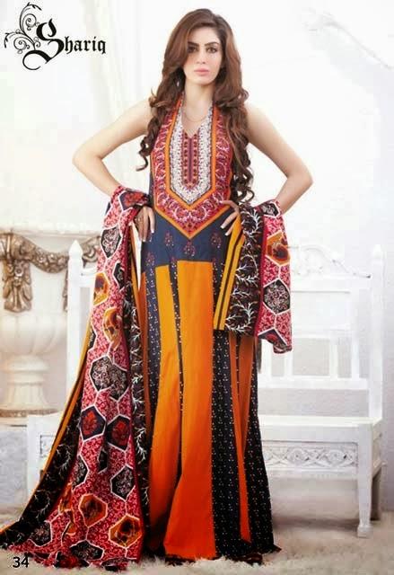 Shariq Textiles+Latest+Female+Khadder+Dress+Collection+In+2013 14001