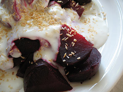 Indian-Style Beet Salad with a Yogurt Dressing