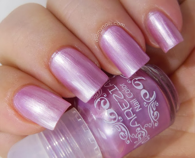 pink frost nail polish by Arezia