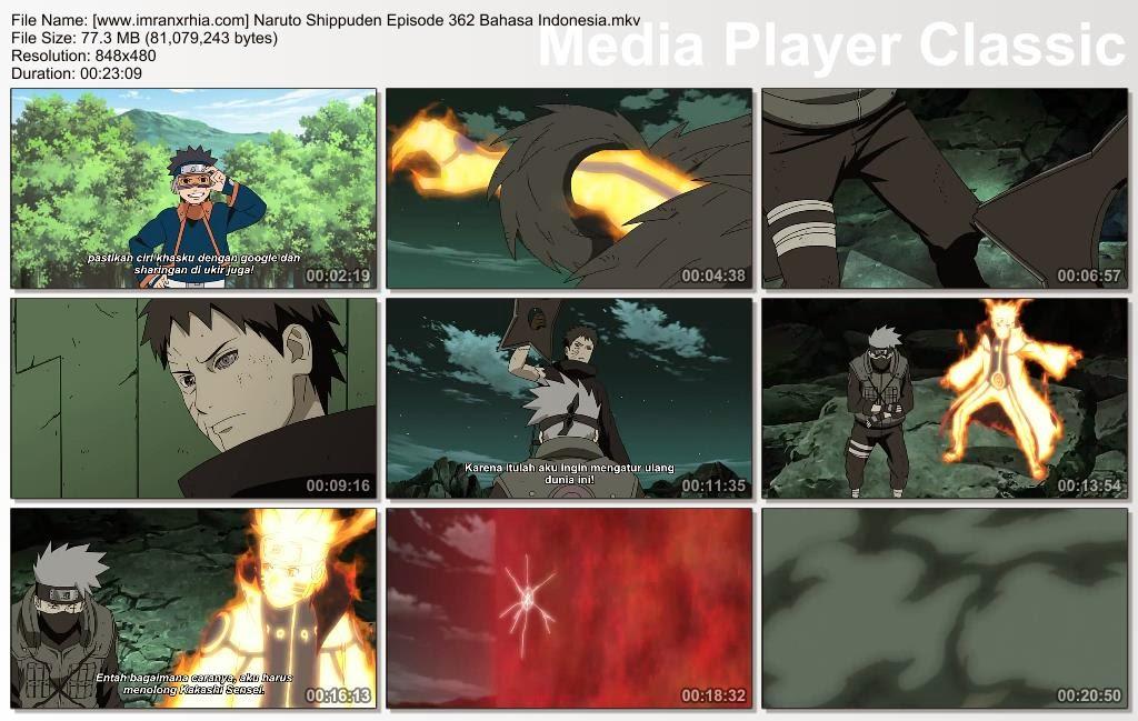 """Download Film / Anime Naruto Episode 362 """"Keputusan Kakashi"""" Shippuden Bahasa Indonesia"""