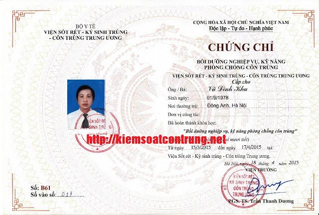 Chung chi boi duong nghiep vu ky nang phong chong con trung