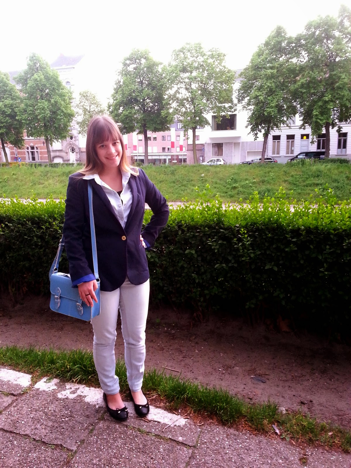 Clothes & Dreams: OOTD: That blazer, again: full outfit with new Scapa ballet flats