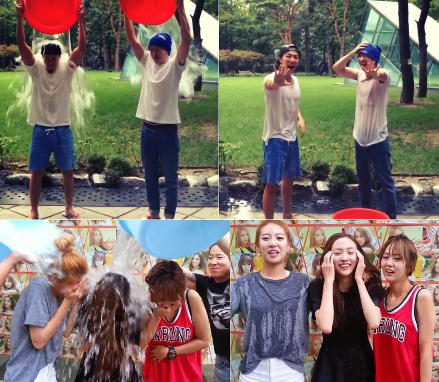 Donghae & Eunhyuk, and BESTie take on #IceBucketChallenge; Duble Sidekick, Choo SungHoon, Yoo Jae Suk are nominated
