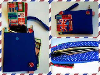 Annis artesanato bolsinha porta celular Inglaterra