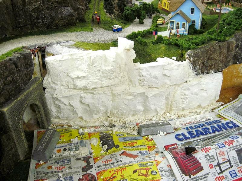 My model railroad february 2014 for Papier mache rocks