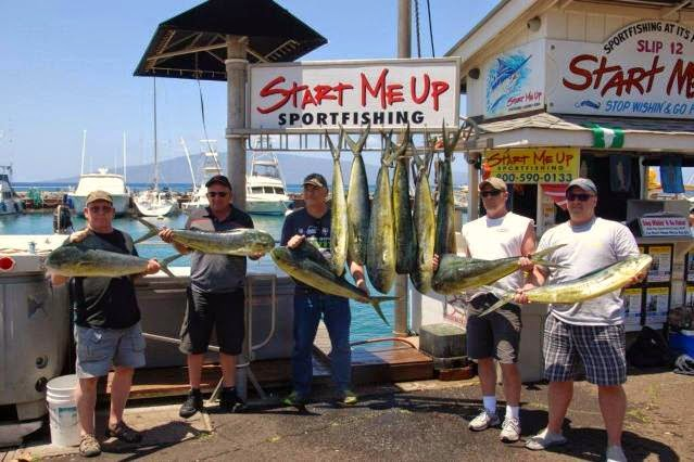 Start Me Up Sport Fishing out of Lahaina Maui; 808-879-6260 for Reservations & Tickets