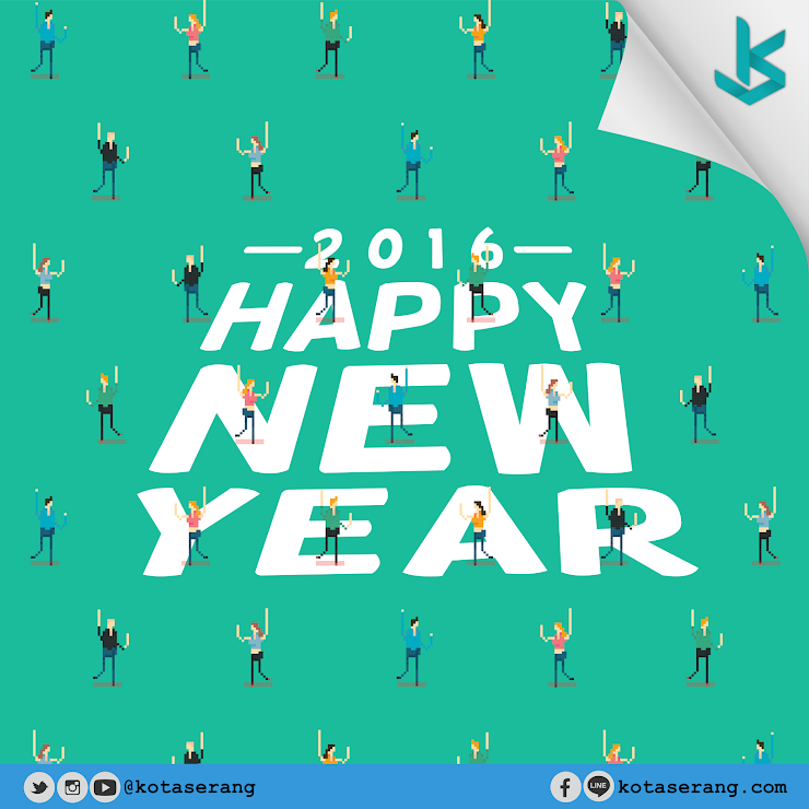 Gambar Vector - Happy New Year 2016