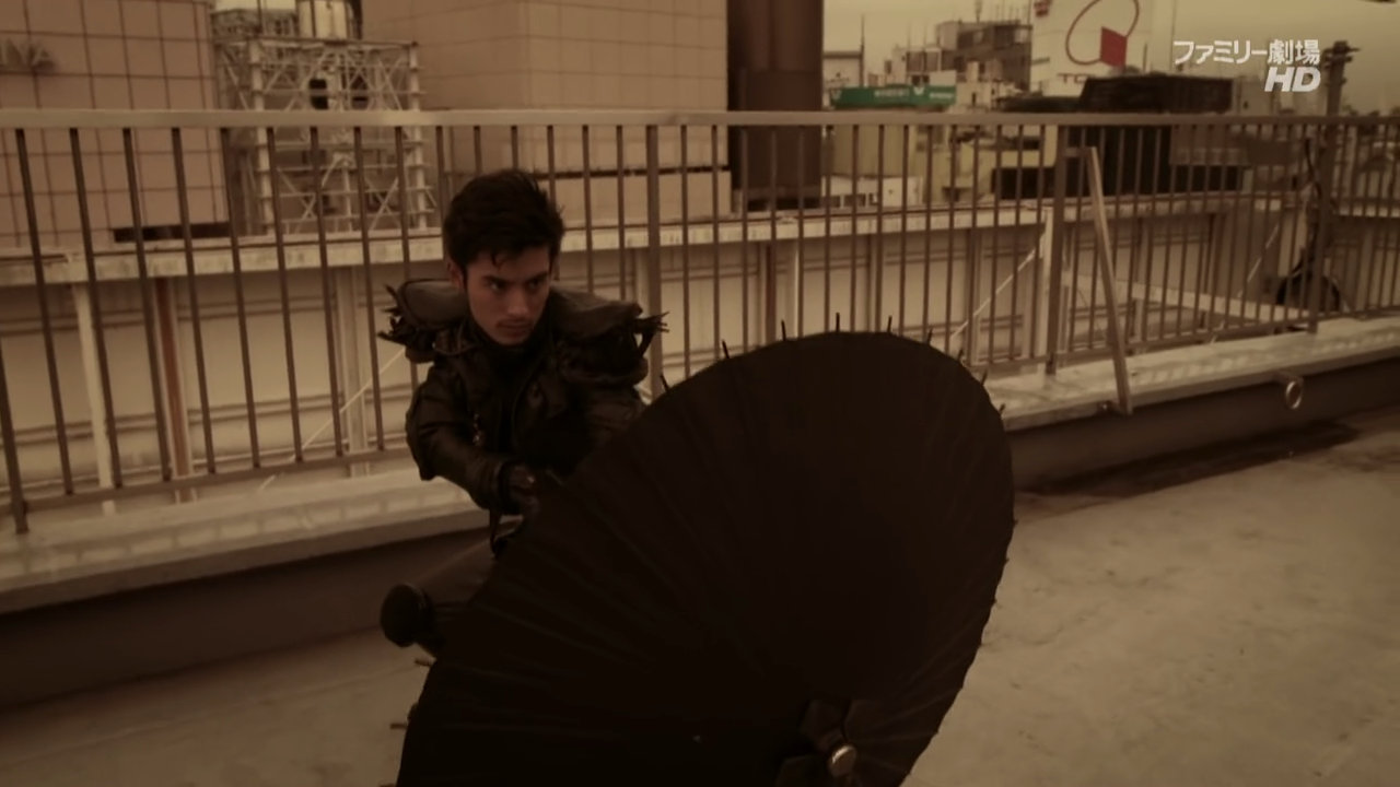 Umbrella-wielding Makai Priest Cain